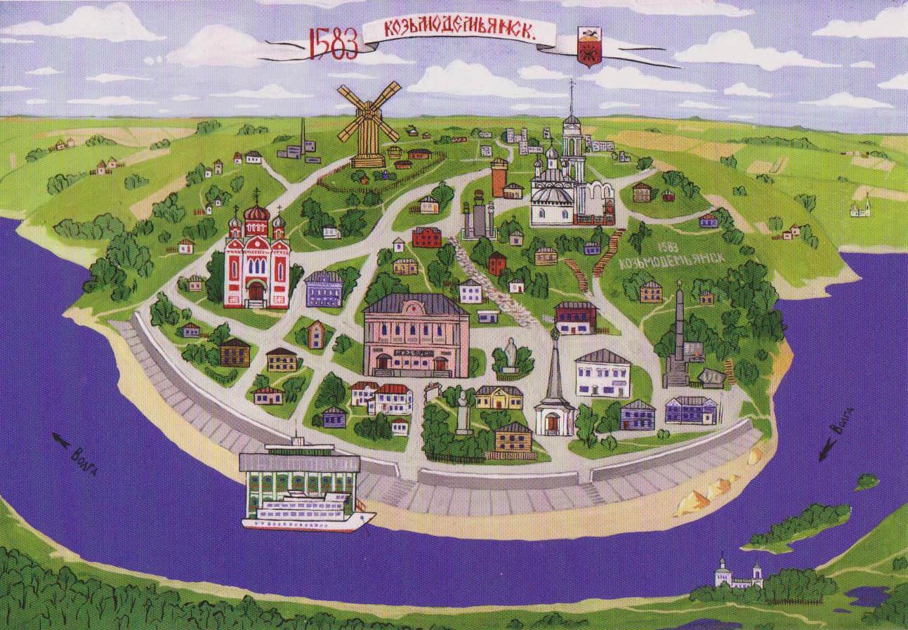 трасса йошкар-ола - казань карта-схема