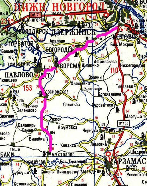 Схема проезда на Мухтоловские