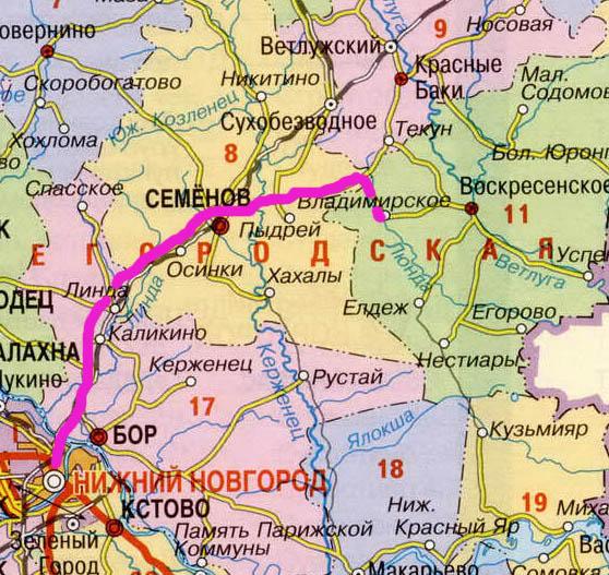 в Нижегородской области и